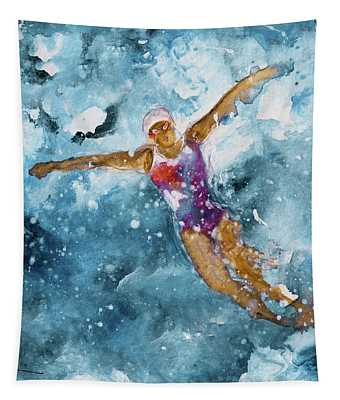 The Art Of Butterfly Swimming 01 Tapestry