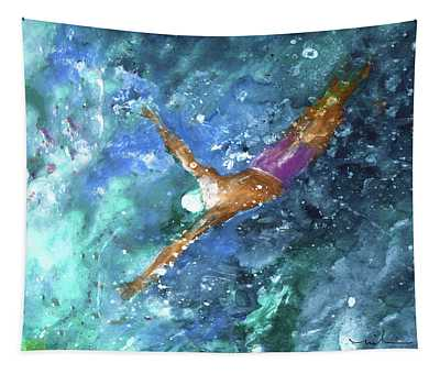 The Art Of Butterfly Swimming 02 Tapestry