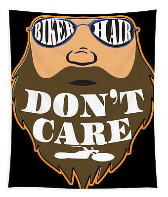 The Awesome Cool Rider Tshirt Biker Hair Dont Care Tapestry
