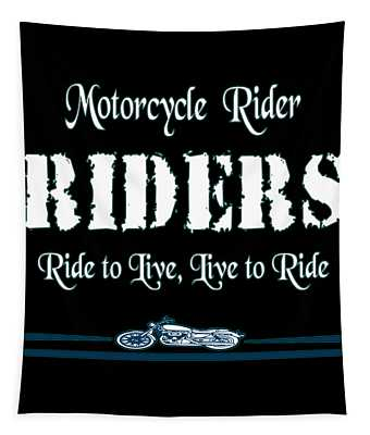 The Awesome Cool Rider Tshirt Motorcycle Riders Tapestry