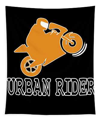 The Awesome Cool Rider Tshirt Urban Rider Tapestry