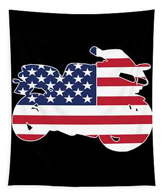 The Awesome Cool Rider Tshirt Us Sport Bike Tapestry