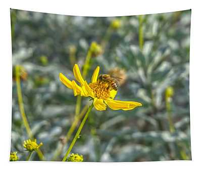 The Bee The Flower Tapestry