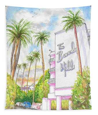 The Beverly Hills Hotel In Sunset Blvd., Beverly Hills, California Tapestry