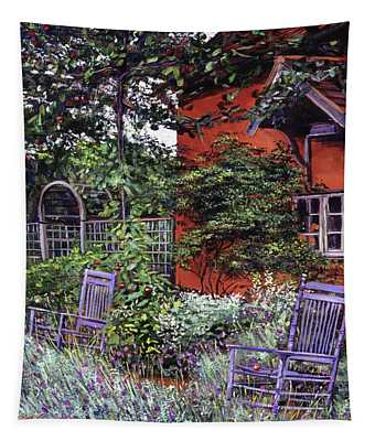 The Blue Garden Chairs Tapestry