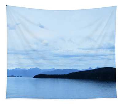 The Blue Hour In Glacier Bay Tapestry