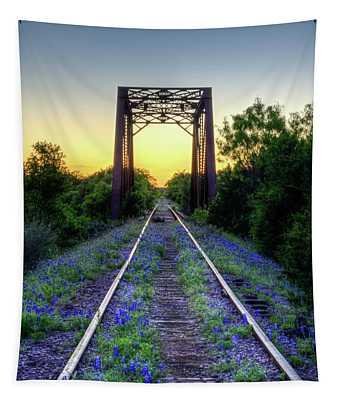 The Bluebonnet Railroad Tapestry