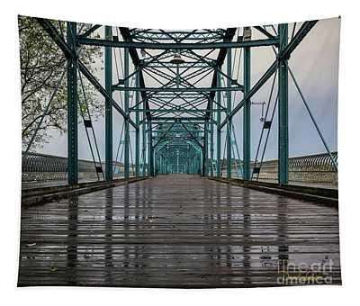 The Bones Of Chattanooga's Walnut Street Bridge Tapestry