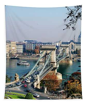 The Chain Bridge In Budapest Tapestry