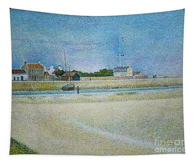 Tapestry featuring the painting The Channel Of Gravelines Grand Fort Philippe by George Seurat