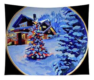 The Christmas House Tapestry