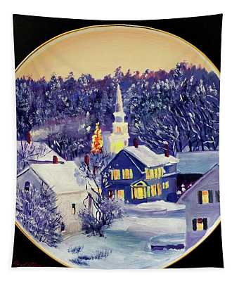 The Christmas Village Tapestry