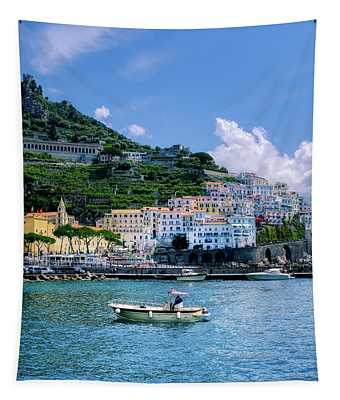 The Colorful Amalfi Coast  Tapestry
