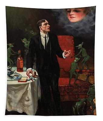 The Dangerous Servants-evils Of Coffee, Tobacco And Alcohol, 1913 Tapestry