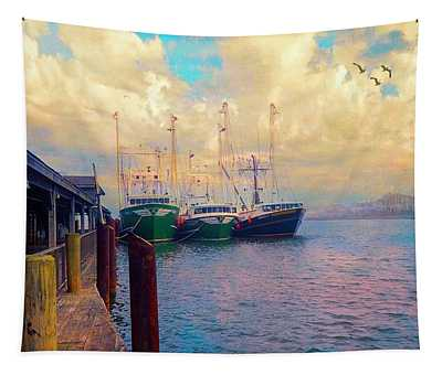 The Docks At Cape May Tapestry