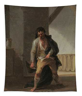 'the Drunkard'. Ca. 1835. Oil On Cardboard. Tapestry
