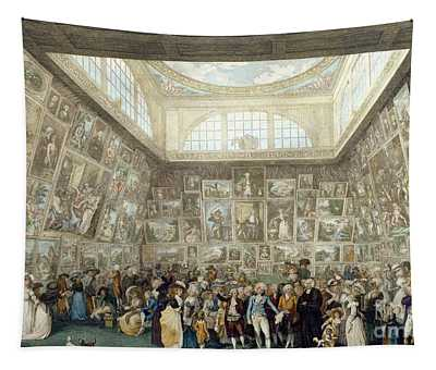 The Exhibition Of The Royal Academy, 1787 Tapestry