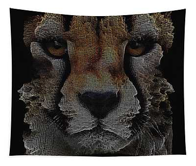 The Face Of A Cheetah Tapestry