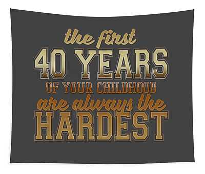 The First 40 Years Tapestry