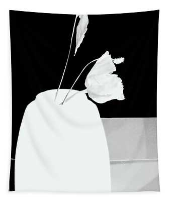 The First Rose  - Remembering - Silhouette Tapestry