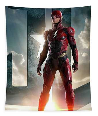 The Flash Justice League Tapestry
