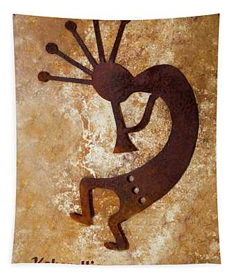 The Flute Player Kokopelli  Tapestry