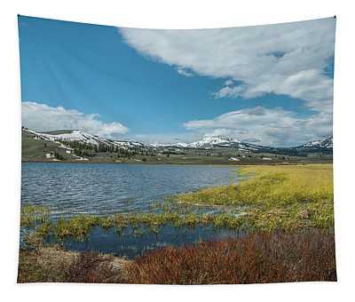 The Gallitin Mountain Range  Tapestry