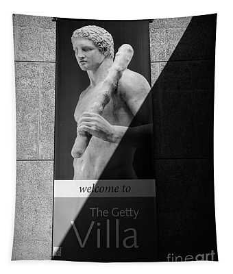 The Getty Villa Bw Welcome  Tapestry