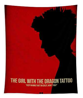 The Girl With A Dragon Tattoo Tapestry
