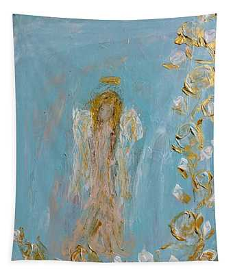The Golden Child Angel Tapestry