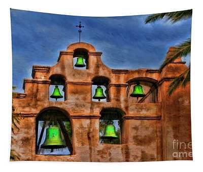 The Green Bells Of Mission San Gabriel San Gabriel Ca  Tapestry