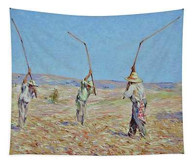 The Haymakers - Pierre Van Dijk 70x90cm Oil Tapestry