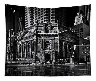 The Hockey Hall Of Fame Toronto Canada Reflection Tapestry