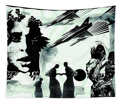 The Insanity Of Wars Tapestry