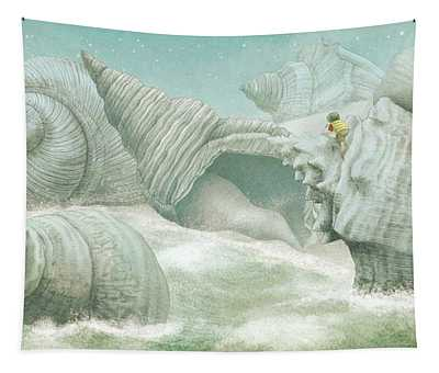The Island Of Giant Shells Tapestry