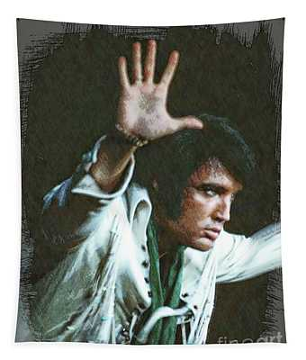 The King Rocks On Liv Tapestry
