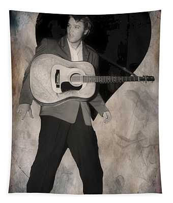 The King Rocks On Lv Tapestry