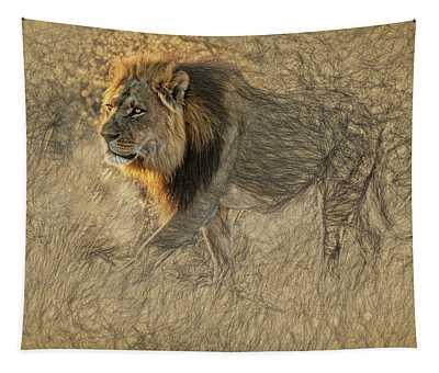 The King Stalks Tapestry