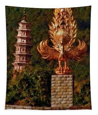 The Leaning Left Pagoda Of The Chongsheng Temple Tapestry