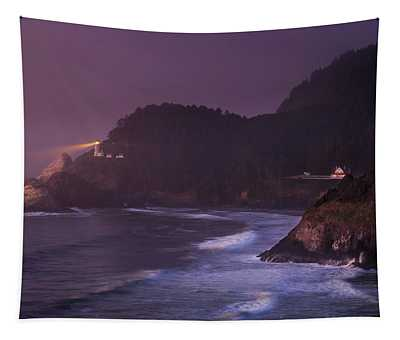 The Light From Heceta Head Tapestry