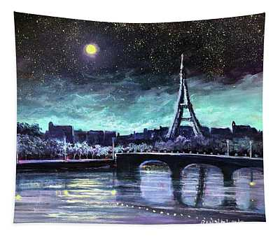 The Lights Of Paris Tapestry