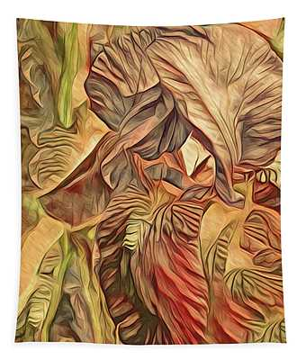 The Lines Of An Iris Yellow Tone 2 Tapestry