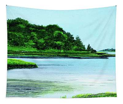 The Little River Gloucester, Ma Tapestry
