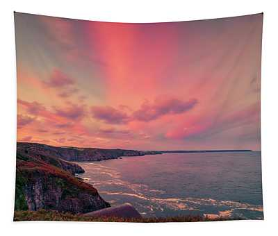 The Lizard Point Sunset Tapestry