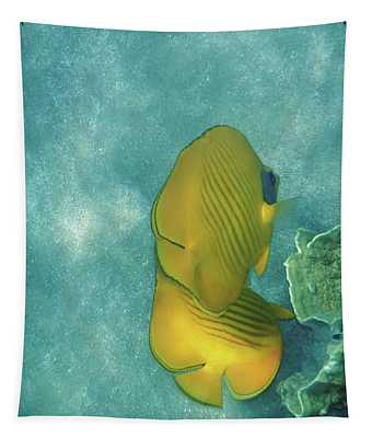 The Masked Butterflyfish Turquoise Tapestry