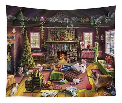 The Micey Christmas Heisty Tapestry