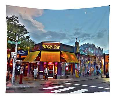 The Middle East In Cambridge Central Square Dusk Tapestry