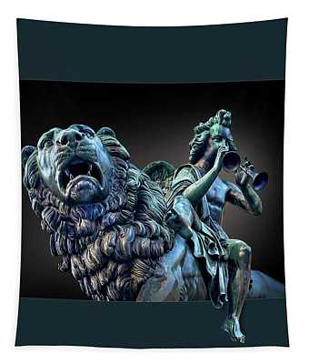 The Muse And The Lion Tapestry