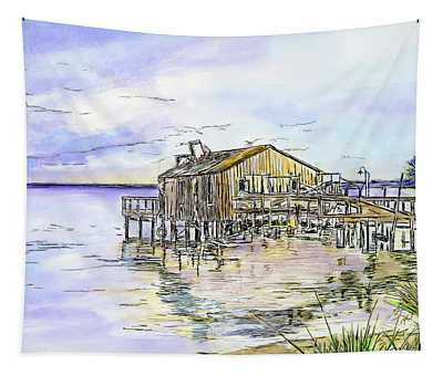 The Old Fishing Shack Tapestry