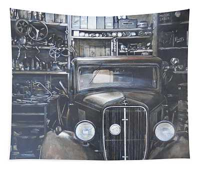 The Old Garage Tapestry